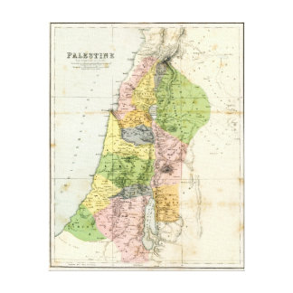 Antique Map - Biblical Palestine Canvas Print