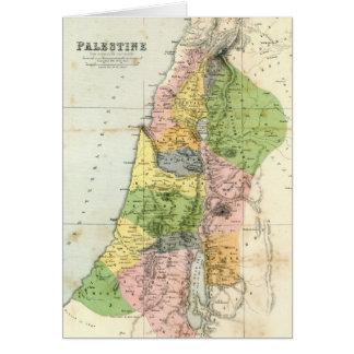 Antique Map - Biblical Palestine Card