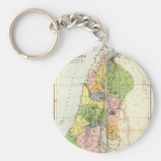 Antique Map - Biblical Palestine Key Ring