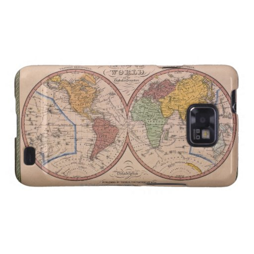 Antique Map Galaxy SII Cover
