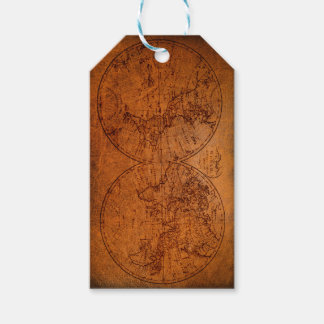 Antique Map Classic Vintage Rustic Gift Tags