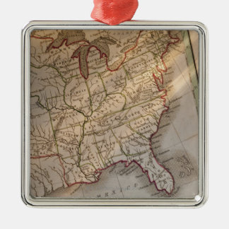 Antique map christmas ornament