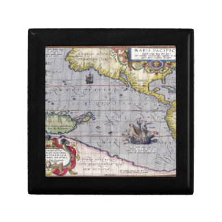 Antique map gift box