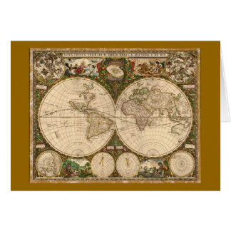ANTIQUE MAP GREETING CARD