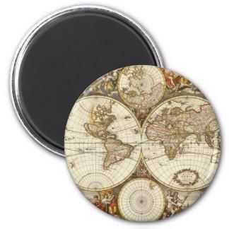 Antique Map Fridge Magnets