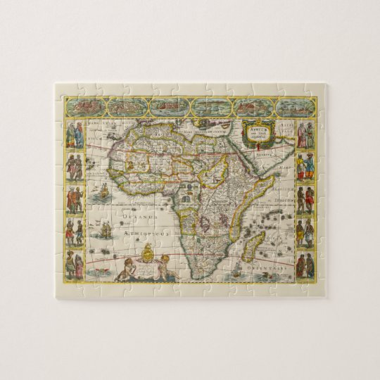 Antique Map of Africa by Hondius and Jansson