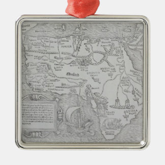 Antique Map of Africa Christmas Ornament