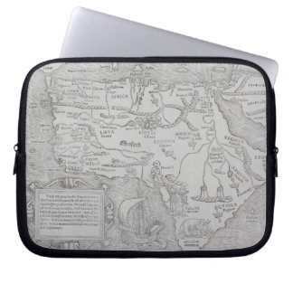 Antique Map of Africa Computer Sleeve