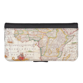 Antique Map of Africa iPhone SE/5/5s Wallet Case