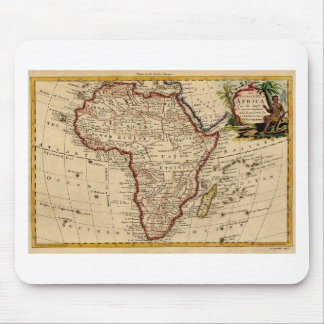 Antique Map of Africa Mouse Pad
