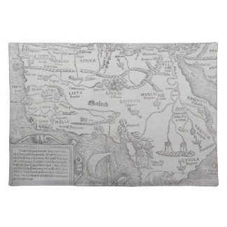 Antique Map of Africa Placemat