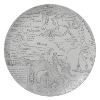 Antique Map of Africa Plate