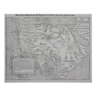 Antique Map of Africa Poster