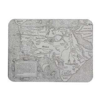 Antique Map of Africa Rectangular Magnet