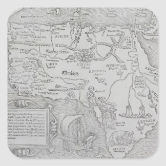 Antique Map of Africa Square Sticker
