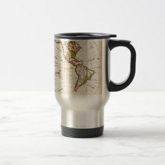 Antique map of Americas Mugs