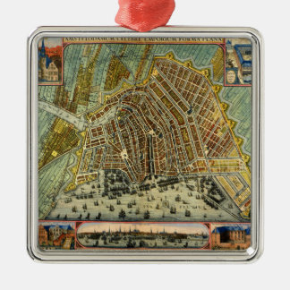 Antique Map of Amsterdam, Holland aka Netherlands Christmas Ornament