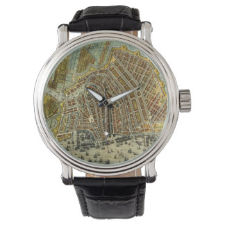 Antique Map of Amsterdam, Holland aka Netherlands Watch