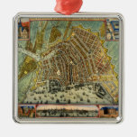 Antique Map of Amsterdam, Netherlands, Holland Christmas Ornaments