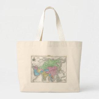 Antique Map of Asia circa 1800s Tote Bag