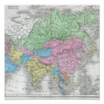 Antique Map of Asia circa 1800s Posters