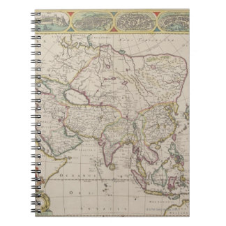 Antique Map of Asia Notebook