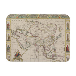 Antique Map of Asia Magnets
