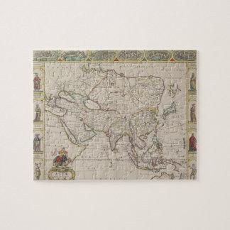 Antique Map of Asia Puzzles