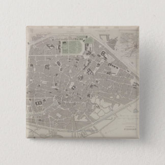 Antique Map of Belgium 2 15 Cm Square Badge