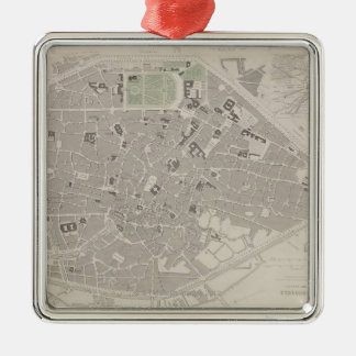 Antique Map of Belgium 2 Christmas Ornament