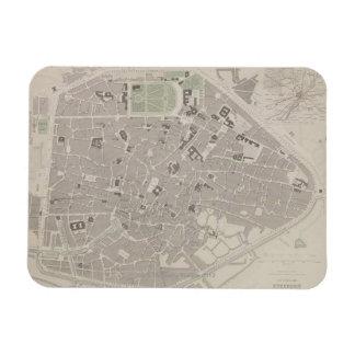 Antique Map of Belgium 2 Rectangle Magnets