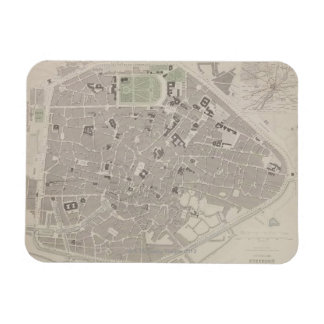 Antique Map of Belgium 2 Rectangular Photo Magnet