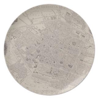 Antique Map of Belgium Plate