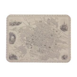 Antique Map of Belgium Rectangle Magnets