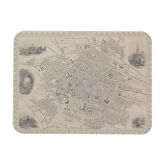Antique Map of Belgium Rectangular Photo Magnet