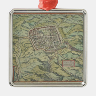 Antique Map of Calatia, Italy Christmas Ornament