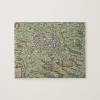 Antique Map of Calatia, Italy Jigsaw Puzzle