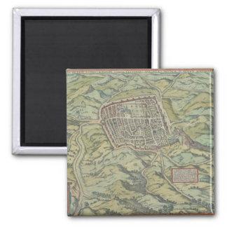 Antique Map of Calatia, Italy Magnet