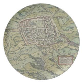 Antique Map of Calatia, Italy Plate