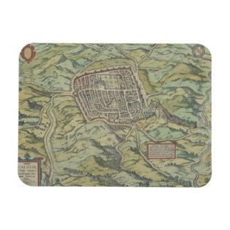 Antique Map of Calatia, Italy Rectangular Photo Magnet