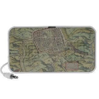 Antique Map of Calatia, Italy Mini Speakers