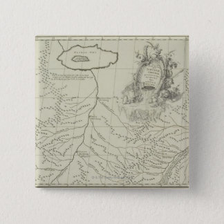Antique Map of China 15 Cm Square Badge