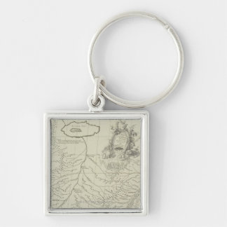 Antique Map of China Key Ring