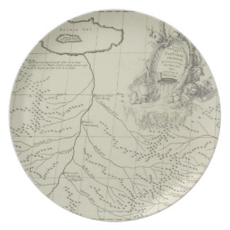 Antique Map of China Party Plates