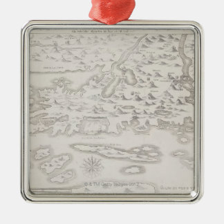 Antique Map of Croatia Christmas Ornament