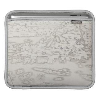 Antique Map of Croatia iPad Sleeve