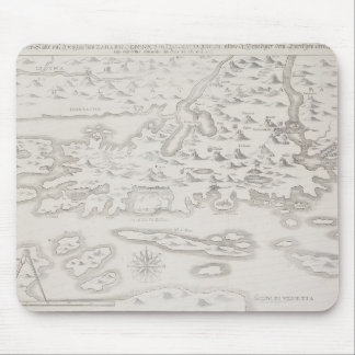 Antique Map of Croatia Mouse Mat