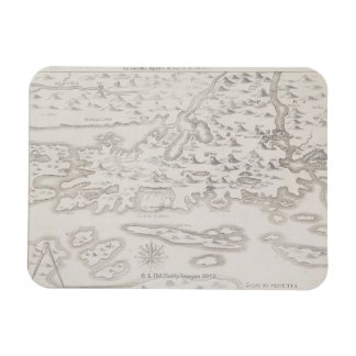 Antique Map of Croatia Rectangular Photo Magnet