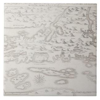 Antique Map of Croatia Tile