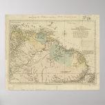 Antique Map of Curacao, Bonaire, Aruba, Suriname Print